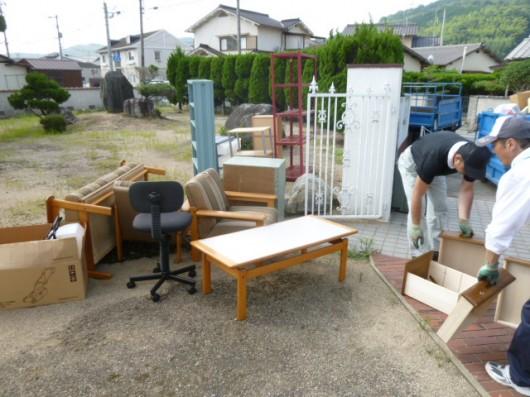 倉敷で一軒家の不用品回収に行って来ました。