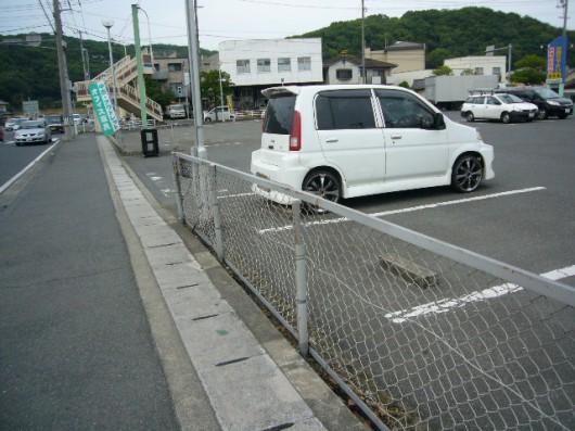 リサイクルショップ 道具屋 駐車場風景