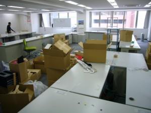 広島市内でオフィス家具引上げ