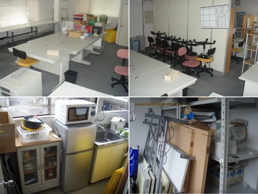 事務所(40坪)の什器備品引上げ&改装現業復帰。(高松市内)